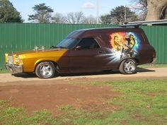Ford van LTD front end. Australian Muscle Cars, Aussie Muscle Cars, Dragon Wagon, Holden Australia, Big Girl Toys, Vanz, Cool Vans, Van Interior, Custom Vans
