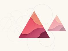 Triangle designed by Yoga Perdana. Connect with them on Dribbble; Graphic Design Inspiration, Graphic Design Art, Triangle Design, Triangle Logo, Design Digital, Design Typography, Affinity Designer, Abstract Logo, Design Poster