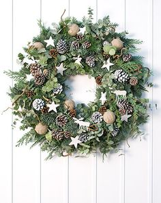Classic - White Nordic Christmas Wreath. Phillipa Craddock