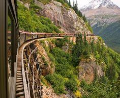Take a ride on the Scenic railroad - Skagway, Alaska - White Pass and Yukon route - Royce Bair