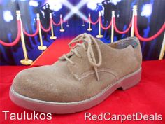 """Womens shoes BASS """"Exeter"""" Brown Tan Suede LEATHER Oxfords Lace-up Casual 8.5 M"""