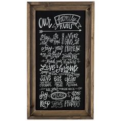 Get Our Family Rules Wood Wall Sign online or find other Wall Art products from HobbyLobby.com