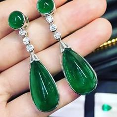 Earrings.  39carats #ZambianEmerald