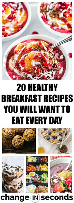 Healthy breakfast recipes, 20 healthy breakfast recipes you will want to eat every day! #healthy, #breakfast, #breakfastideas, #healthybreakfast, #healthybreakfastrecipes, #healthybreakastideas, #healthybreakfastsmoothies, #healthybreakfastmuffins,