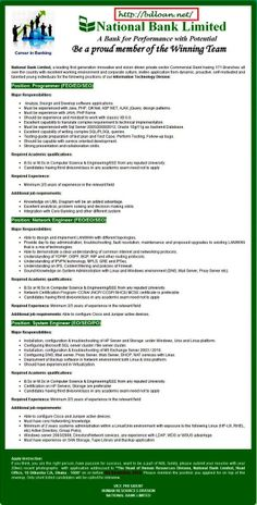 National Bank New Job Circular 2013 |