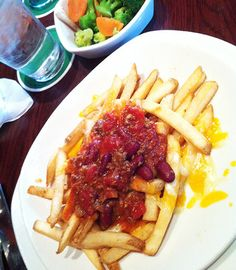 chili and fried potatoes at #outback #steack house in #tokyo #japan the portions are super big! (it was a S one lol)