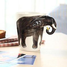3D Elephant Coffee Tea Cup Mug