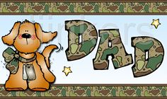 military dad card, army dad, DJ Inkers clip art