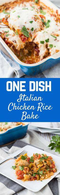 Do you think a DELICIOUS, quick, budget-friendly meal is impossible? Well, it's not! This one dish Italian chicken and rice bake is here to save the day. #sponsored /redgoldtomatoes/ #HelpCrushHunger