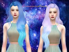LeahLillith Galia Hair Retexture Found in TSR Category 'Sims 4 Female Hairstyles'