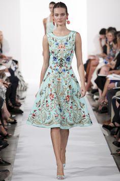 $5 says Michelle Obama wears this dress this spring!  Oscar de la Renta dress, spring/summer 2014