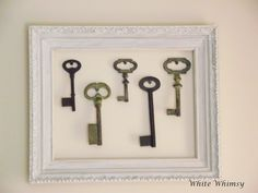 White Whimsy: Decorating With Old Keys