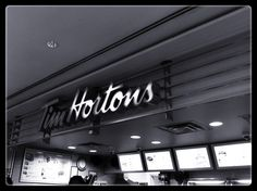 130 Adelaide Tim Hortons Tim Hortons, Broadway Shows, Neon Signs, Spaces