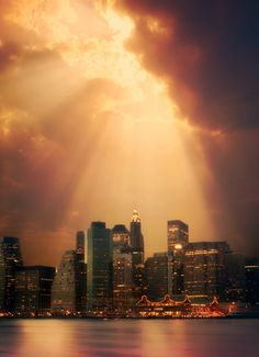 NYC. Mystical lighting over Manhattan