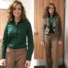 Today's outfit. Not sure about my accessories. Also, boots weren't my first choice but it's raining out so I went with practical! Shirt is JCrew. Pants and belt are LOFT. Jewelry is Charming Charlie and the jacket I got at Nordstrom Rack.