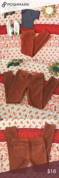 -Free People Burnt Orange Skinny Jeans-Size: 29- -Free People Burnt Orange Skinny Jeans-Size: 29-Length: 40 in. Hips: 15 1/2 Rise: 8 1/2 in. Thigh: 7 1/2 in.- Free People Pants Skinny