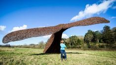Bristol Whales willow sculpture dives into nature reserve home - BBC News Outdoor Sculpture, Outdoor Art, Garden Sculpture, Wood Sculpture, Lanscape Design, Rustic Entry, Whale Art, Metal Garden Art, Oceans Of The World