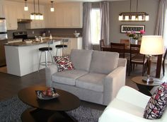 Interior Delightful Design Interior With Brown Leather Single Alluring Small Space Kitchen Living Room Design Decorating Design