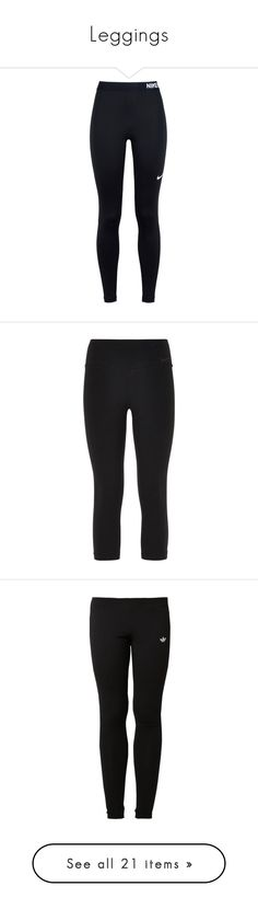 """""""Leggings"""" by haleycrosby ❤ liked on Polyvore featuring pants, leggings, bottoms, jeans, 11. pants., black, nike, momma, elastic waist pants and cropped leggings"""