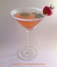 STRAWBERRY CILANTRO MARTINI - Perfect way to cocktail-ize all those fresh strawberries & cilantro! Click the martini to get the Free, Print Quality Recipe Card.