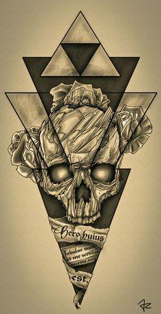 Design #137 by Giulio Rossi | Hip - Dark - Sketch Tattoo Design Needed!