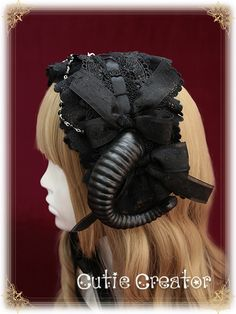 Reminder:  The [-▲-headband with horns-▲-] is available at >>> http://www.my-lolita-dress.com/sweet-dreamer-devil-horns-lolita-headband-cic-74