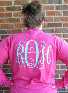 Hey, I found this really awesome Etsy listing at https://www.etsy.com/listing/212014058/large-vine-monogrammed-shirt-back