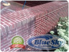 Pressure Washing Brick & Side Walks with Blue Sky in New Hampshire & Massachusetts Brick Siding, Vinyl Siding, Vinyl Soffit, Pressure Washing, Before And After Pictures, Hampshire, Massachusetts, Walks, Outdoor Decor