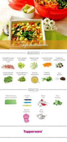¡Prepara una deliciosa sopa de verduras de manera rápida y fácil con #Tupperware! #Recetas #Cocina