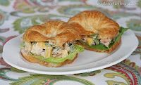 Teriyaki Chicken Salad Sandwiches. Good for bridal/baby showers