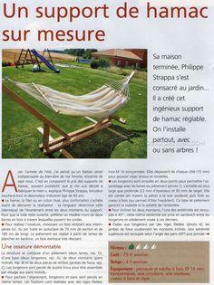 # 2490 Hamak Stojak plany - meble ogrodowe Plany Plany na świeżym powietrzu