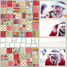 Tiled Winter Scrapbook Page use dimensional glaze to patterned paper.  Maybe I could do something smaller than a whole page--a heart?
