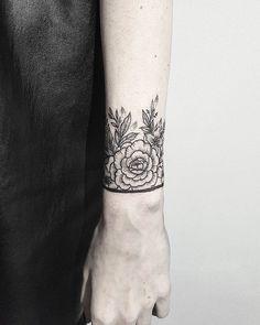 Floral Wrist Cuff.