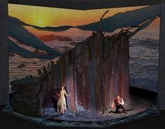 The Tempest- Set, Lighting, and Projection Design by Milinda Weeks, via Behance