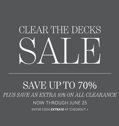 Restoration Hardware sale - up to 70% off