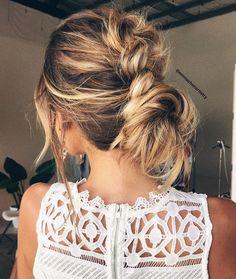 Textured bun hairstyle ideas #braids #hairstyles #hairstyle