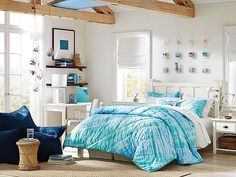 I love the PBteen Chatham Tie-Dye Bedroom on pbteen.com