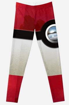 Red Pokeball Leggings #Leggings #clothing #sport #gameboy #gamecube #gamecontroller #nintendo #sega #playstation #ps #ps1 #ps2 #ps3 #ps4 #retro #vintage #Pokemon #pokeball #pikachu #gengar #pokedex #monster #duelmonster #Mystic #Instinct #Valor #Articuno #Zapdos #Moltres #cartoon