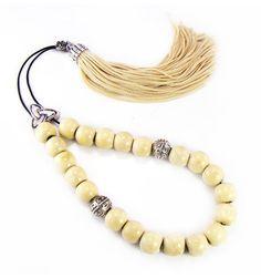 Traditional Komboloi Greek Worry Beads Beige by sunnybeadsbythesea, $12.90