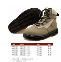 Kinetic Waterspeed Wading Boots Rubber Sole 89.95  euros www.henrystackleshop.com #britishbizparty #fishing High Tops, High Top Sneakers, Fishing, Footwear, Boots, Crotch Boots, Shoe, Shoe Boot, Shoes