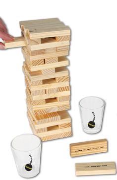 """Bachelorette Party Ideas - play this drinking game that is like jenga called """"wrecked"""""""