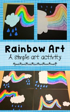 Teaching Fourth: Children's Art Activity: Rainbow Art Rainbow Activities, Rainbow Crafts, Art Activities For Kids, Rainbow Art, Art For Kids, Art Children, Seasons Activities, Rainbow Fish, Rainbow Theme