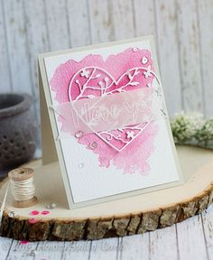 Houses Built of Cards: SSS Valentine Release - Watercolor Heart I Love You.