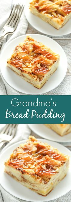 This bread pudding recipe is easy to make with just a few simple ingredients. Th… This bread pudding recipe is easy to make with just a few simple ingredients. This is one of our family's favorite recipes and perfect served with a big scoop of ice cream! Easy Pudding Recipes, Bread Recipes, Baking Recipes, Recipes With Bread Easy, Recipe Of Pudding, Simple Recipes, Milk Recipes, Cookie Recipes, Köstliche Desserts
