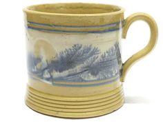 Antique Mocha Ware Pottery Mug £61