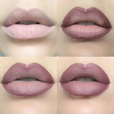 Ombre lips: (tip prime your lips first and/or dap a bit of concealer for pigmented color) Line your lips, place your lighter color in the middle of top and bottom lips, press your lips together, and fill in surrounding light color with darker lipstick or the liner you used