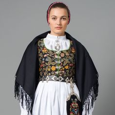 Traditional Norwegian folk costumes - Page 4 Folk Costume, Costumes, Kimono Top, Bell Sleeve Top, Traditional, Folklore, Europe, Tops, Women