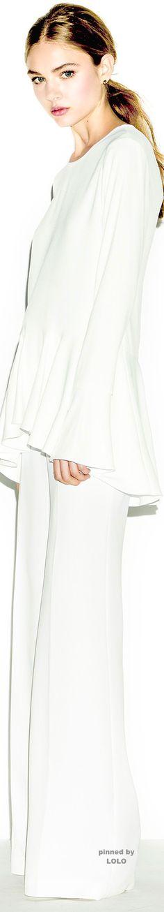 Rachel Zoe Pre-Fall 2015 Fashion Show White Fashion, Look Fashion, Runway Fashion, Fashion Show, Fashion Design, Rachel Zoe, Winter Dresses, Dress Winter, Summer Dresses