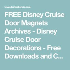 371 Best Disney Cruise-Graphics images in 2019 | Disney