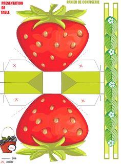 Früchtchen 27: printable Strawberry Shaped Box
